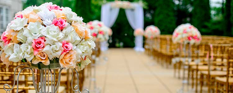 Centros de flores para boda