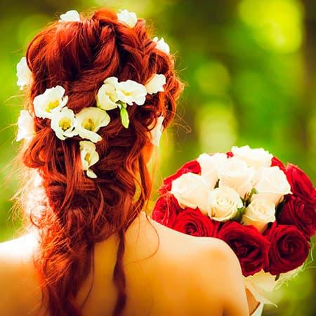 Flores para bodas y ramos de novia en Madrid.