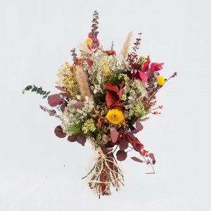Ramo de flores preservadas en tonos otoñales a domicilio en Madrid.